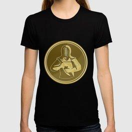 Kendo Swordsman Gold Medal Retro T-shirt