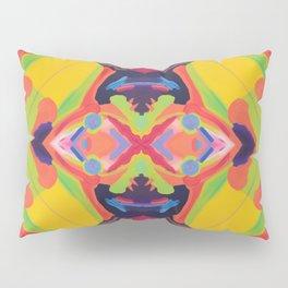 Deciphering Humanism - Psychedelic Colourful Mandala Pillow Sham