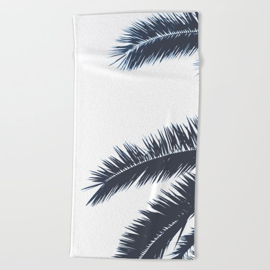 Palm Tree leaves abstract II Beach Towel