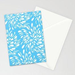 DAHLIA FLOWER RAIN DROPS TEAR DROPS SWIRLS PATTERN Stationery Cards
