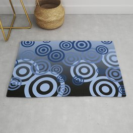 Blue Spirals pattern Design Rug