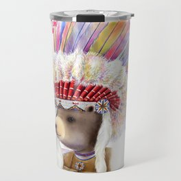 american native bear Travel Mug
