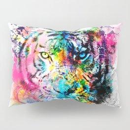 colorful tiger Pillow Sham