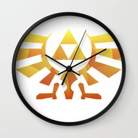 triforce Wall Clocks featuring Triforce by Wicttor