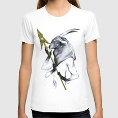 A Forest's Guardian Womens Fitted Tee White SMALL