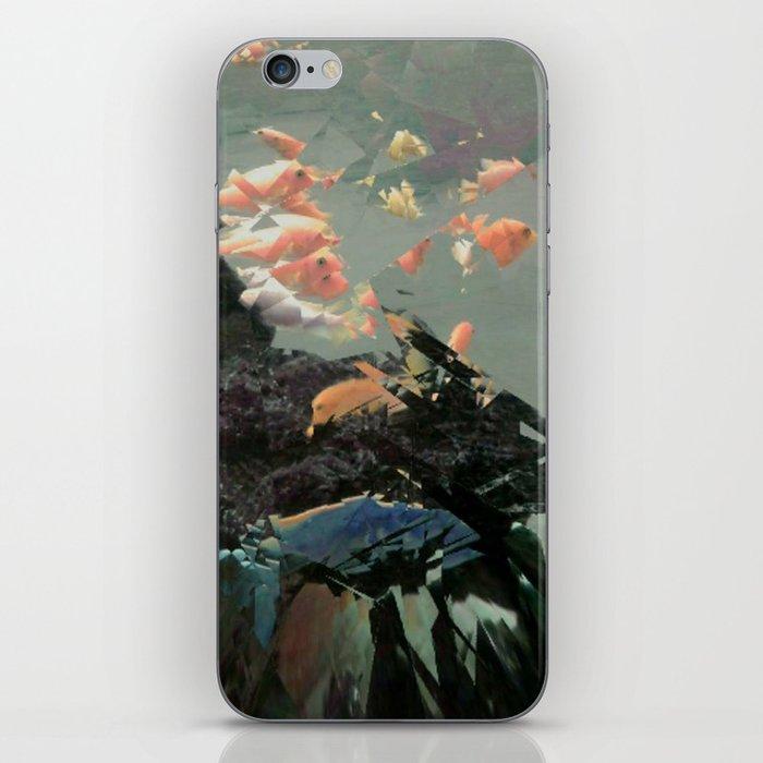 aquaglitch iPhone Skin