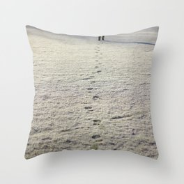 Trace in Snow Throw Pillow