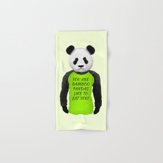 Panda You are Bamboo Hand & Bath Towel