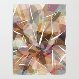 Abstract graphic design,brown,nude ,neutral decor Poster
