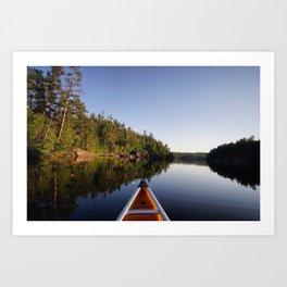 Boundary Waters Canoe Art Print