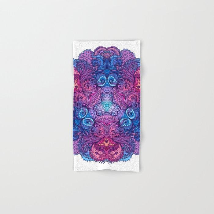 Purple & Blue Indian Mandala Hand & Bath Towel