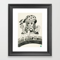 Pizza Ring Framed Art Print