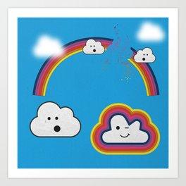 The Great Rainbow Cloud Robbery Art Print
