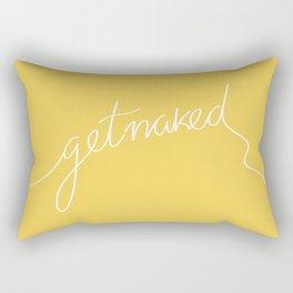 Get naked Yellow Rectangular Pillow