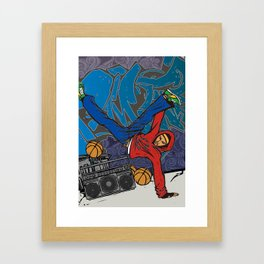 Street dancer Framed Art Print