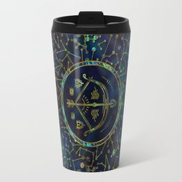 Sagittarius Zodiac Gold Abalone on Constellation Travel Mug