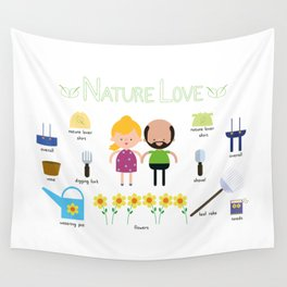 Nature Love Wall Tapestry