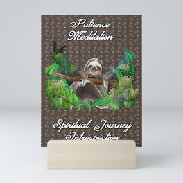 The Sloth (The Spiritual Meaning) Mini Art Print
