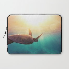 Sea Turtle - Underwater Nature Photography Laptop Sleeve