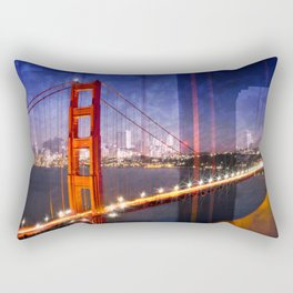 City Art Golden Gate Bridge Composing Rectangular Pillow