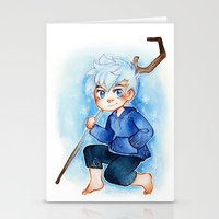 jack frost Stationery Cards featuring Jack Frost by cynamon