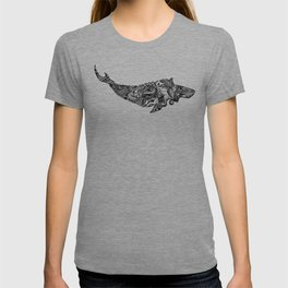 Whale drawing by Floris V T-shirt