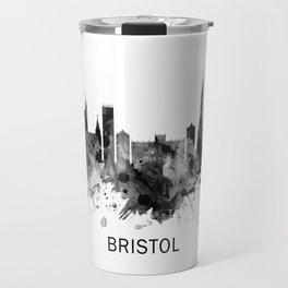 Bristol England skyline BW Travel Mug