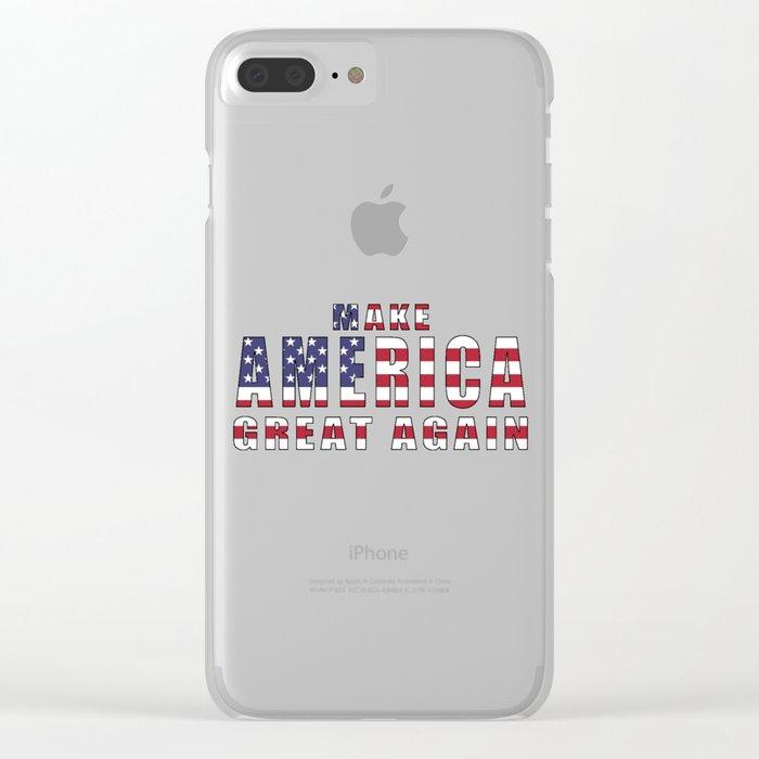 Make America Great Again Clear iPhone Case