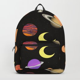 universe night moon planet planets Backpack