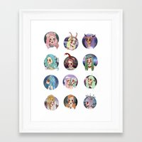 zodiac Framed Art Prints featuring Zodiac by Clementine Petrova