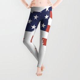 Australian-Shepherd-tshirt,-patriotic-Australian-Shepherd Leggings