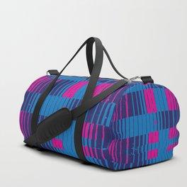 PinkBlue Stripes Duffle Bag