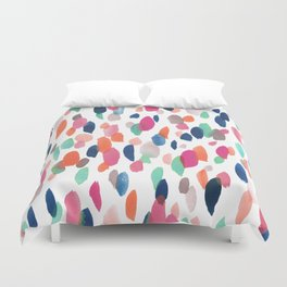 Watercolor Dashes Duvet Cover
