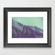 Fog Forest - Green Adventure Awaits Framed Art Print