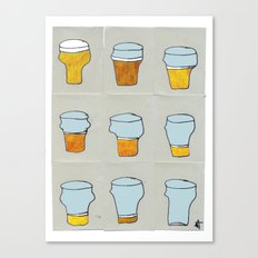 Beer diary. Canvas Print