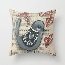 His eye is on the sparrow Throw Pillow