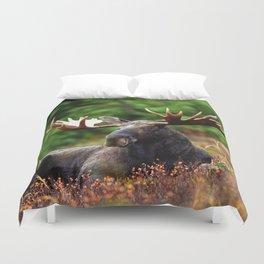 Relax Moose Duvet Cover