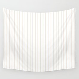 Classic Cream Pin Stripes on White Wall Tapestry