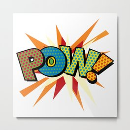 POW Comic Book Modern Pop Art Cool Graphic Metal Print