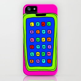 Leave It Enjoy This Moment! - bright colors colorful illustration iPhone Case