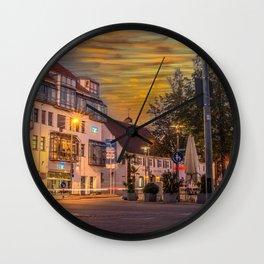 Laupheim by night Wall Clock