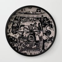 justin timberlake Wall Clocks featuring contacto real by ALVAREZ