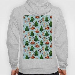 Blue Christmas - From Corgis, Santa And Christmas Trees Hoody