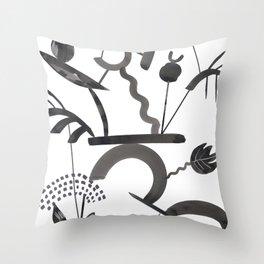 Abstract Botanica - 1 Throw Pillow