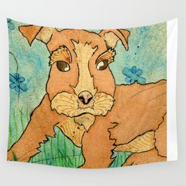 Frank the Puppy Wall Tapestry