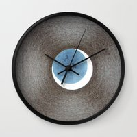 lucas david Wall Clocks featuring David by anitaa