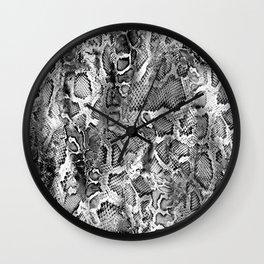 Black & White Snakeskin  Wall Clock