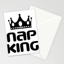 Funny Nap King T-shirt Design Nap King Stationery Cards