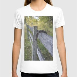 Horse Shoe Over the Fence T-shirt