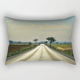 Straight road Rectangular Pillow